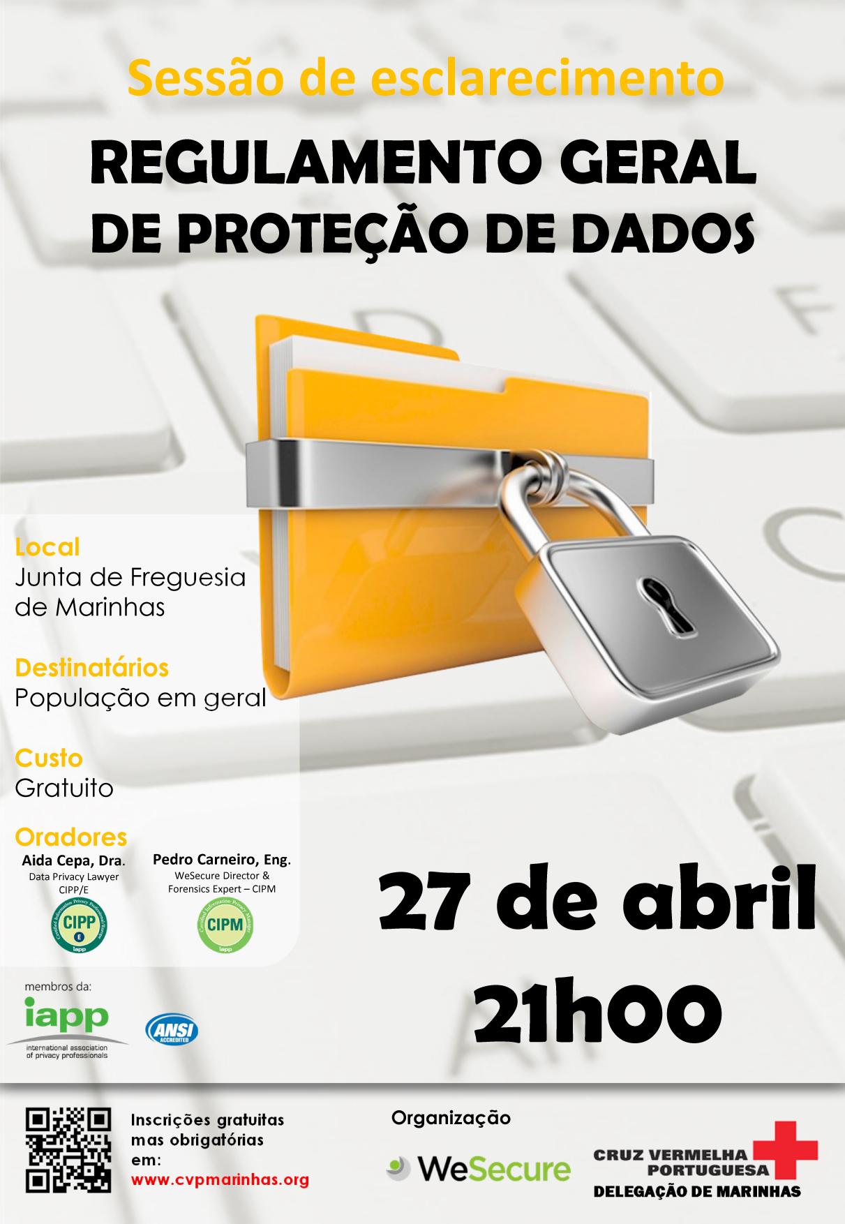 SEMINÁRIO sobre REGULAMENTO GERAL PROTEÇÃO DADOS (RGPD)