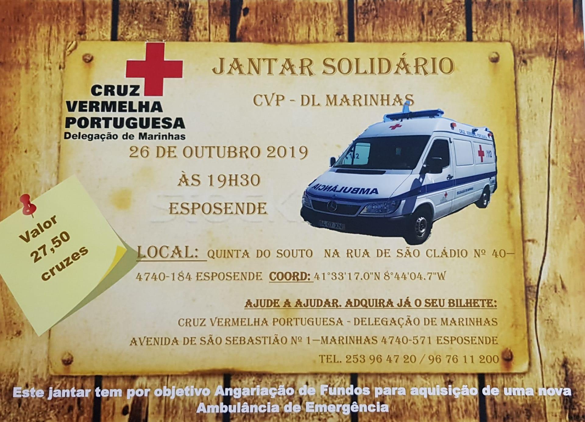 Jantar Solidário Cruz Vermelha Marinhas